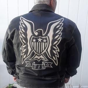 Michael Hoban Leather Jacket, L